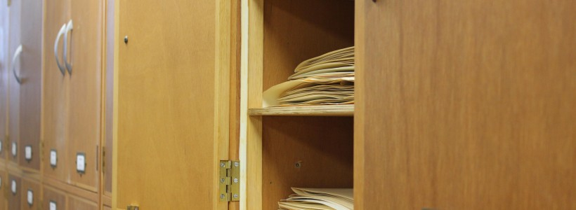 One cupboard in the herbarium at the National Botanic Garden of Wales