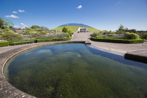 The Mirror Pool looking towards the Great Glasshouse
