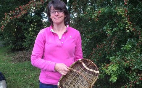 A willow trug made by one of Mel's students