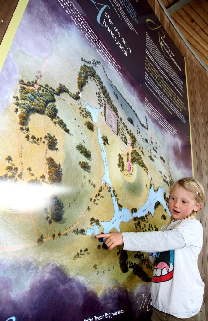A young visitor explores the legend of Paxton's waterpark