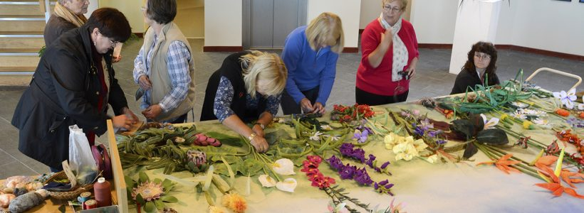 Stitching Botanicals: creating textile artwork in the Garden