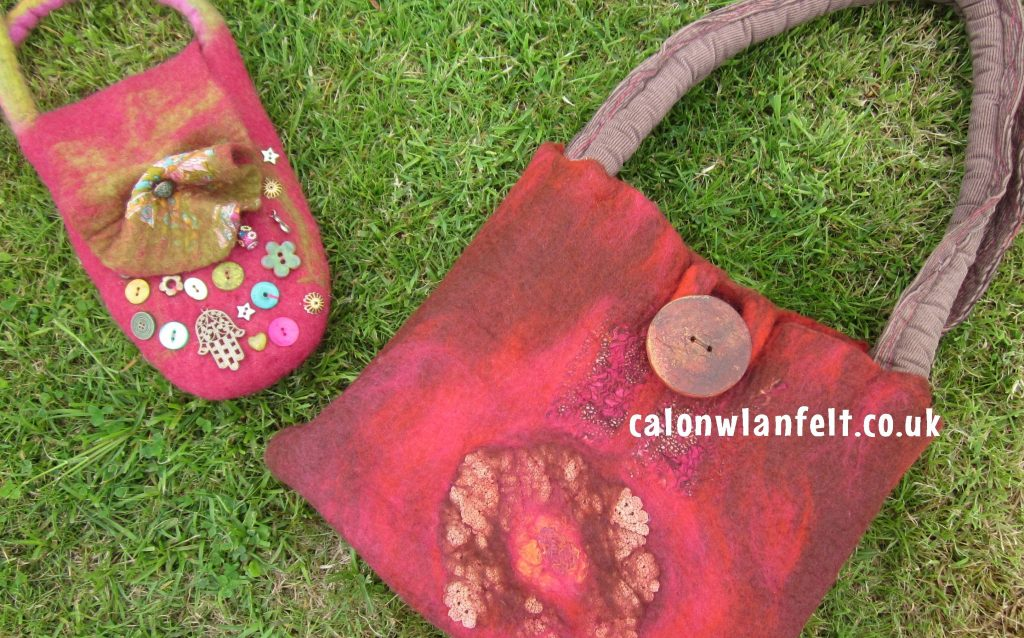Create your own seamless felt bag with renowned felter, Sarah Enoch