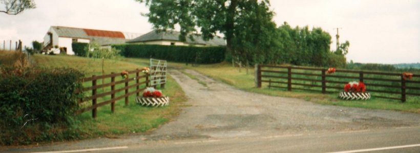 The entrance to Gorswen taken in the 1980s by Mrs Christine Evans, the last resident
